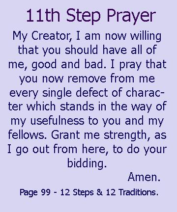 Step 11. Sought through prayer and meditation to ... - K ...